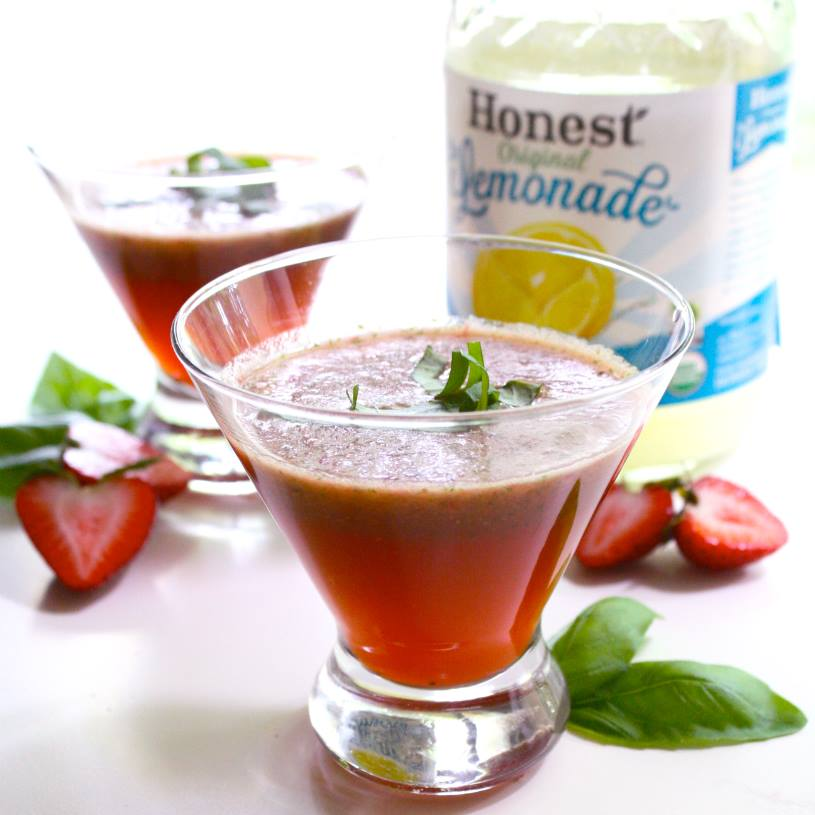 Strawberry Basil Lemonade Recipe — Dishmaps